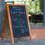 Ardoise porte-menu en angle pour exterieur - GARCIA DE POU
